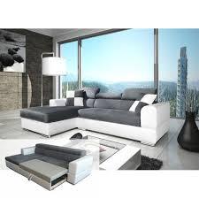 canapé angle design canapé d angle convertible néto madrid gris et blanc design pas cher