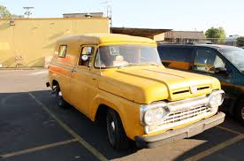 100 1960 Ford Panel Truck OLD PARKED CARS