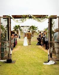 I Love The Simple Arch With Old Screen Doors Wedding Ideas