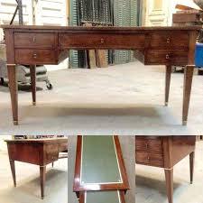 bureau acajou bureau ancien dessus cuir bureau plat a tirettes pieds gaine en