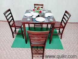 4 Seater Dining Table Set Made Of Teak Wood FIXED PRICE
