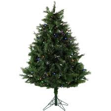 5 Ft Pre Lit Multicolor Christmas Tree by Fraser Hill Farm 5 Ft Northern Cedar Teardrop Christmas Tree With