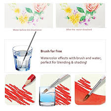 Water Color Pencils Art Drawing Kit With A Brush Vibrant