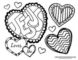 Jesus Loves Me Bible Coloring Page
