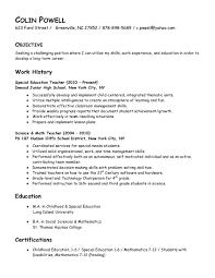 Sample Teacher Resume Career Change Summary
