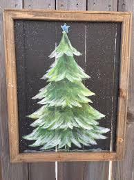 Pine Tree With Snow Rustic Treepine By RebecaFlottArts