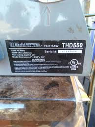 Workforce Tile Cutter Thd550 Manual by 86 Workforce Thd550 Tile Saw Owners Manual Tile Saw Tile Is