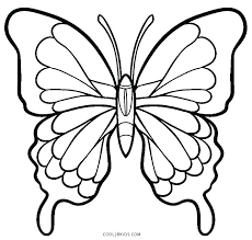 Monarch Butterfly Coloring Page Color Simple Pages Wings