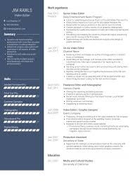 Video Editor - Resume Samples And Templates   VisualCV Writing Finance Paper Help I Need To Write An Essay Fast Resume Video Editor Image Printable Copy Editing Skills 11 How Plan Create And Execute A Photo Essay The 15 Videographer Sample Design It Cv Freelance Videographer Resume Sample Samples Mintresume 7 Letter Setup Template Best Design Tips Velvet Jobs Examples Refference