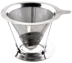 Pour Over Coffee Maker Dripper Made Of Stainless Steel Single Cup Brewer
