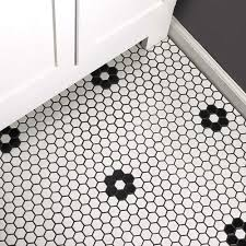 23mm glänzend schwarz weiß waben keramik mosaik fliesen küche back schwimmen pool badezimmer boden fliesen 3d wand fliesen