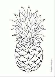 Fabulous Printable Pineapple Coloring Pages With Page