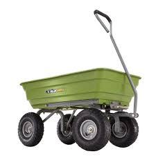 Gorilla Carts 600 lb Poly Garden Dump Cart GOR4G The Home Depot