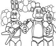 Five Nights At Freddys Fnaf Music Band Coloring Pages