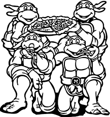 Ninja Turtles Coloring Pages Free 1