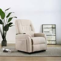 moderne tv sessel loungesessel relaxsessel für wohnzimmer ruhesessel fernsehsessel komfortabel mit aufstehhilfe elektrisch creme stoff