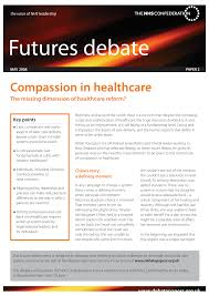 PDF Compassion In Healthcare The Missing