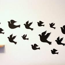 Black BirdsBird Wall ArtBird HangingsBird DecorPaper Birds
