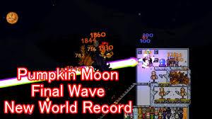 Terraria Pumpkin Moon Arena Ios by Terraria Pumpkin Moon Final Wave At 8 08 Pm Youtube
