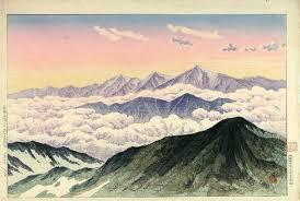 Henmi Takashi Tateyama Mountains From White Horse Peak Hakuba