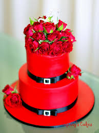 Happy Birthday Cake With Red Roses
