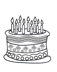 Beautiful Birthday Cake Coloring Page 66 With Additional Download Pages