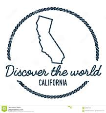 Download California Map Outline Vintage Discover The Stock Vector
