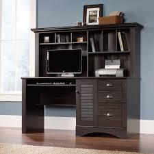 Antique Secretarys Desk by Furniture Dark Secretary Desk With Hutch On Dark Pergo Flooring