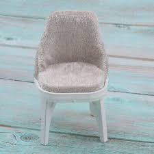 puppenhaus miniatur möbel küche esszimmer stuhl mit braunem sitz