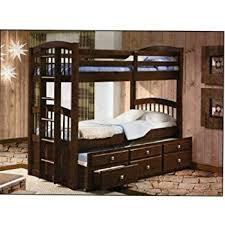 Amazon Twin Twin Captains Bunk Bed with Trundle and Storage