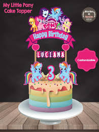 My Little Pony Cake Topper My Little Pony Birthday My Little