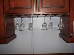 Under Cabinet Stemware Rack by Under Cabinet Wine Glass Rack For Wall Excess Under Cabinet Wine