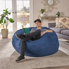 Shop Madison Faux Suede 5-foot Lounge Beanbag Chair By Christopher ... X Rocker 132 Round Extra Large Shiny Bean Bag Multiple Colors Chair Big Inflatable Seat Bearing 220lb For Adult Football Sport L White And Azure Cover Made In Eco Leather Folding Chairs Plastic Wooden Fabric Metal Shop Asher Faux Suede 65foot Lounge Beanbag By Christopher Bed Beans Funky Sports Adults Cordaroys Convertible Bags Theres A Bed Inside Full Fashion Sofa Air Soccar Self Types Of Its Hippie History June 2019