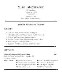 Facility Maintenance Resume Production Technician Samples