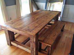 Kitchen Table Round Farmhouse With Bench Wood Extendable 6 Seats Ash Traditional Large Pedestal