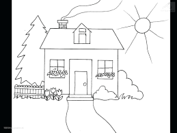 Coloring Book Tree House Buildings Houses Page Haunted Lighthouse Pages Full Size