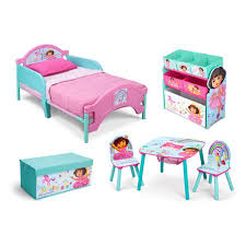 Walmart Bed In A Box by Nickelodeon Dora The Explorer Room In A Box With Bonus Toy Bin