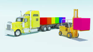 Colors For Children With Excavators Tand Trucks Car Carrier ...
