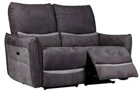 canapé de relaxation 2 places canapé de relaxation 2 places electrique microfibre gris foncé