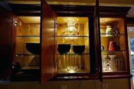 display lighting ideas corner glass display cabinet light oak