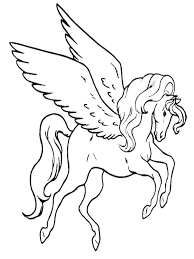 Flying Unicorn Coloring Pages Fresh Made