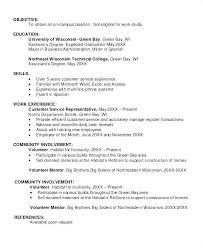 Resume Community Involvement Sample Job Objectives Student Career Change Teacher Include