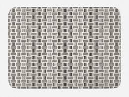 badematte plüsch badezimmer dekor matte mit rutschfester rückseite abakuhaus modern symmetrische bars motiv muster kaufen otto