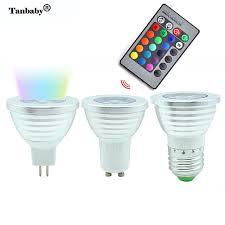 tanbaby 3w rgb led light bulb e27 mr16 gu10 16 colorful change