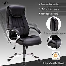 High Back PU Leather Swivel Office Chair Executive Computer ... Buy Office Chair Ea 119 Style Premium Leather Wheels China High Back Emes Swivel Chairs With Yaheetech White Desk Wheelsarmes Modern Pu Midback Adjustable Home Computer Executive On 360 Barton Ribbed W Thonet S 845 Drw Wheels Bonded 393ec3 Star Afwcom Ikea Office Chair White In Bradford West Yorkshire Gumtree 2 Adjustable Ribbed White Faux Leather Office Chairs With Wheels Eames Style Angel Ldon Against A Carpet Charming Black Genuine Arms Details About Classic Without Welsleather Wheelsexecutive