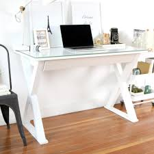 Small Glass And Metal Computer Desk by Walker Edison Furniture Company Home Office 48 In Glass And Metal