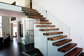 Splendid Clear Glass Banister With Wooden Step Modern Staircase As ... Modern Glass Stair Railing Design Interior Waplag Still In Process Frameless Staircase Balustrade Design To Lishaft Stainless Amazing Staircase Without Handrails Also White Tufted 33 Best Stairs Images On Pinterest And Unique Banister Railings Home By Larizza Popular Single Steel Handrail With Smart Best 25 Stair Railing Ideas Stairs 47 Ideas Staircases Wood Railings Rustic Acero Designed Villa In Madrid I N T E R O S P A C