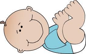 Clipart Baby boy lying