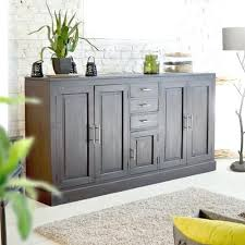 Living Room Buffet Solid Mahogany Wood Sideboard Storage Spaces Dining