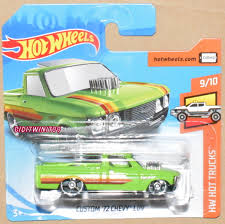 100 72 Chevy Trucks HOT WHEELS 2019 HW HOT TRUCKS CUSTOM CHEVY LUV GREEN CASE A